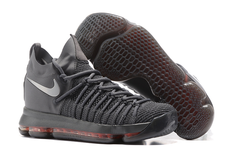 Nike KD 9 Elite All Grey Pink Shoes