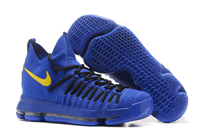 Nike KD 9 Elite Royal Blue Black Yellow Shoes
