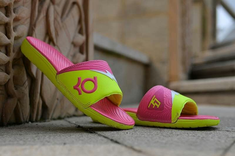 Nike KD Hydro Fluorscent Green Pink Sandal