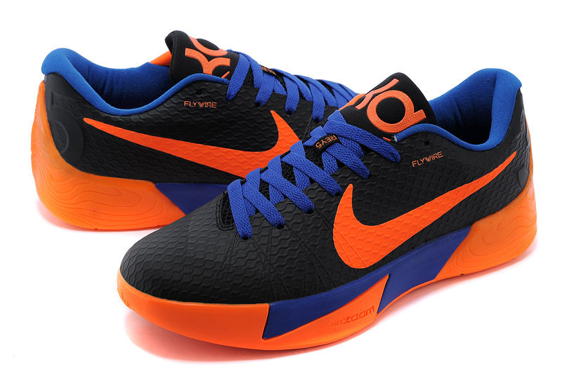 new product 271cb c3424 Nike KD Trey 5 II Black Orange Blue Shoes