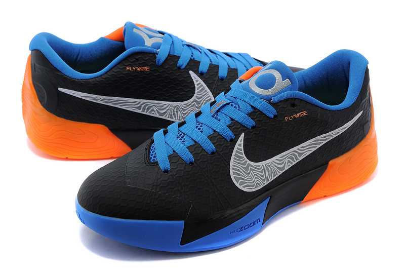 2e8b13487c58 Nike KD Trey 5 II Flywire Black Blue Orange Shoes Special Nike KD ...