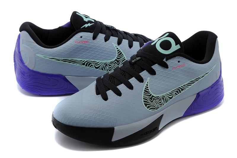 hot sale online 274ae 5ab6c Nike KD Trey 5 II Flywire Grey Black Purple Shoes