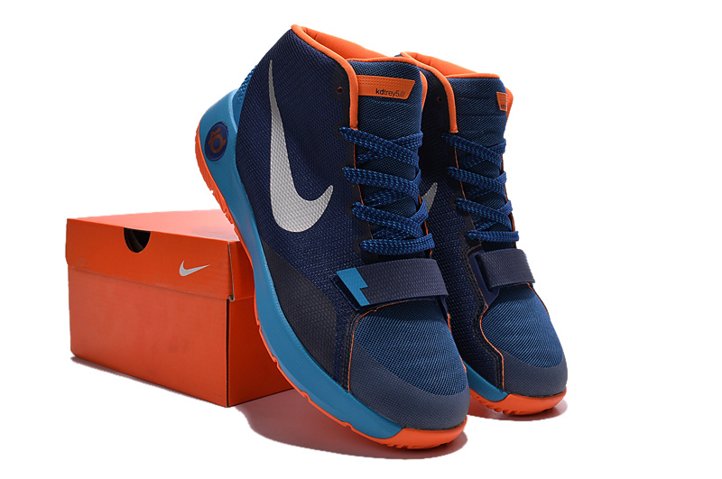best loved 34529 b9a52 Nike KD Trey 5 III Blue Orange Shoes