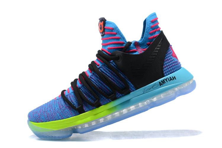 brand new 77514 027cb nike kd 10 doernbecher sample front  nike kevin durant 10 blue green purple  black shoes