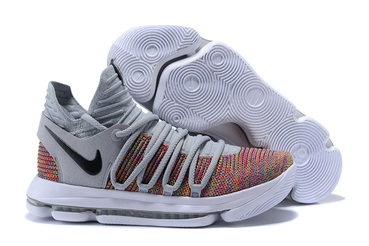 Nike Kevin Durant 10 Grey Rainbow Shoes