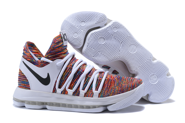 Nike Kevin Durant 10 Rainbow White Shoes