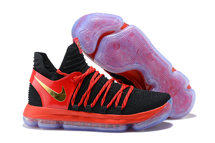 Nike Kevin Durant 10 Red Black Gold Shoes
