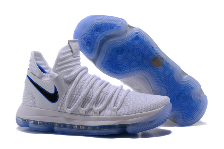 Nike Kevin Durant 10 White Light Blue Shoes
