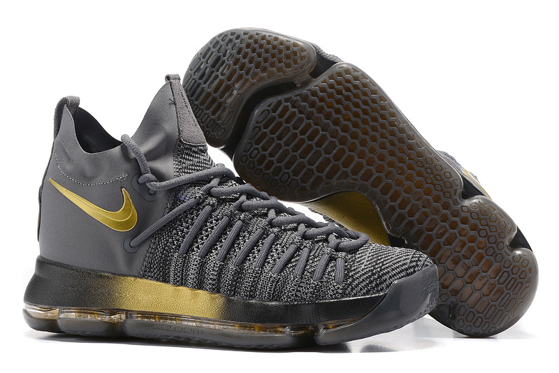 Nike Kevin Durant 9 Elite Carbon Grey Gold Shoes