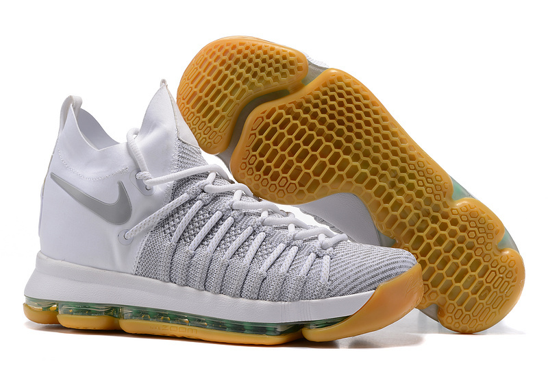 Nike Kevin Durant 9 Elite Grey White Yellow Shoes