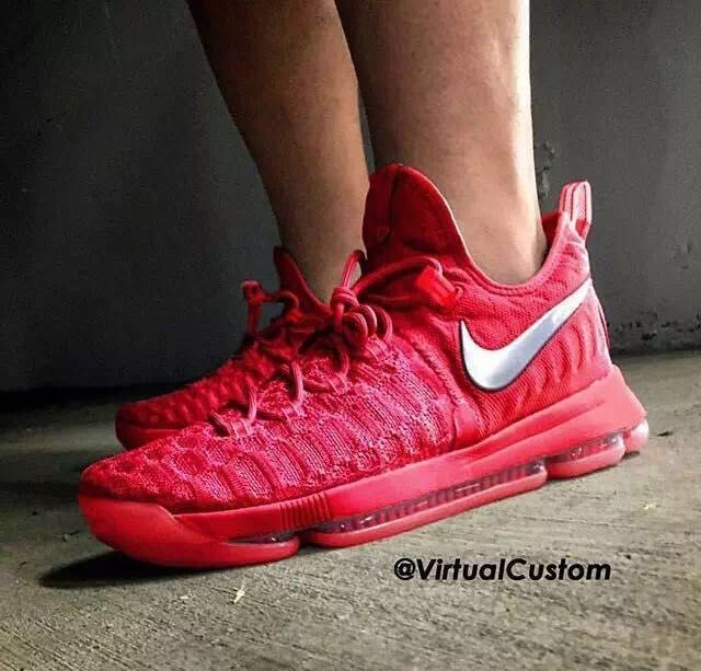 detailed look 5e19c 68e8a Nike Kevin Durant 9 Limited All Red Shoes