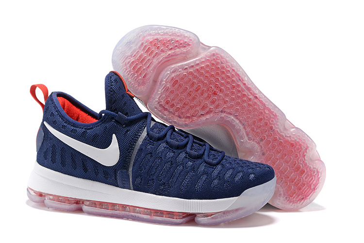 Nike Kevin Durant 9 USA Blue Red White Shoes