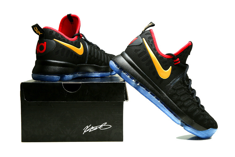 2981b5eecc1f Nike Kevin Durant 9 USA Rio Olympick Gold Black Gold Blue Red Shoes ...