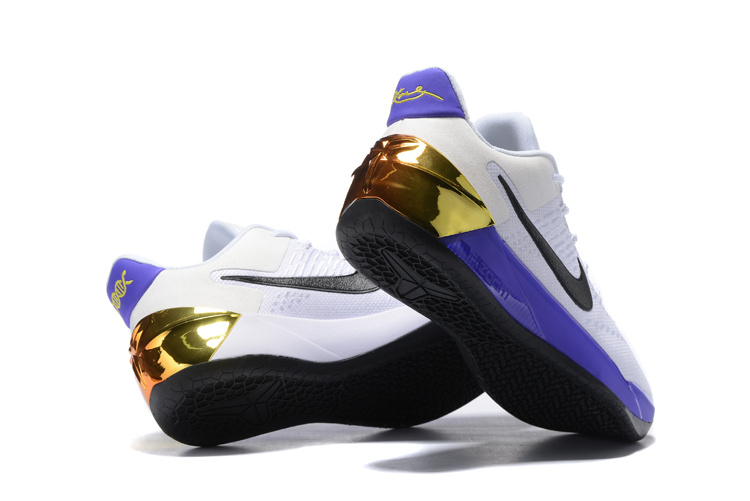 Nike Kobe 12 A.D White Purple Gold Shoes - Click Image to Close
