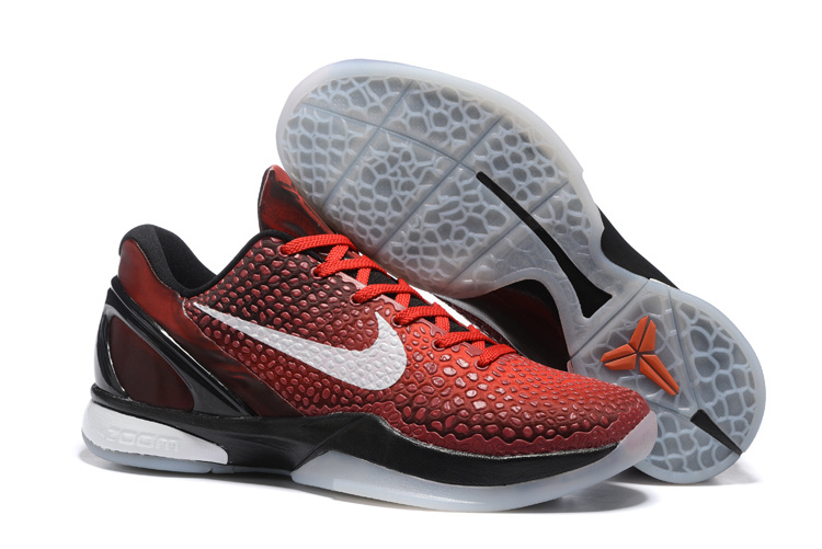 Nike Kobe 6 Flyknit All Star Red Black Shoes