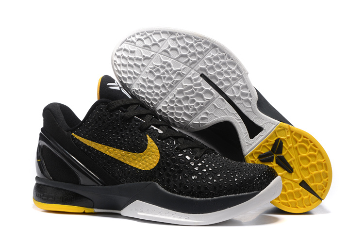 Nike Kobe 6 Flyknit Black Yellow Shoes