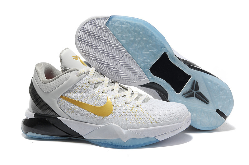 Nike Kobe 7 White Gold Black Shoes