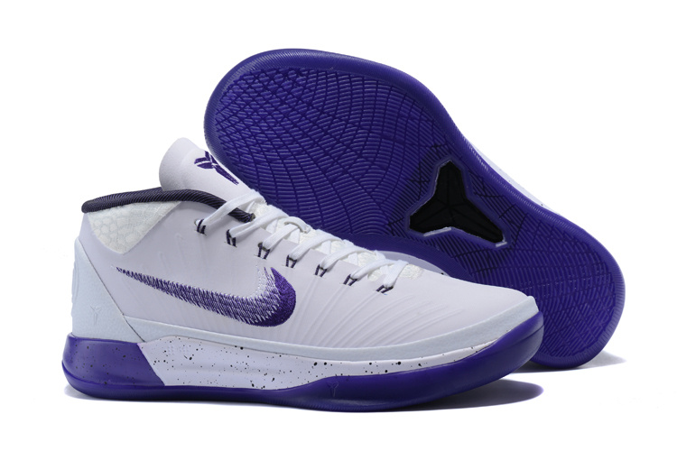 Nike Kobe A.D Mid White Purple Shoes