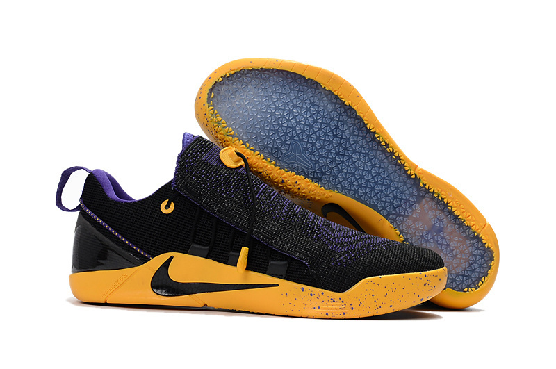 f3986b03e40 Nike Kobe A.D. NXT Flyknit Black Yellow Purple Shoes  NKOBE3902 ...