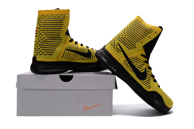 new style 96c13 1bcb2 ... get nike kobe bryant 10 elite high opening night home court yellow  black shoes c2a7a ee589