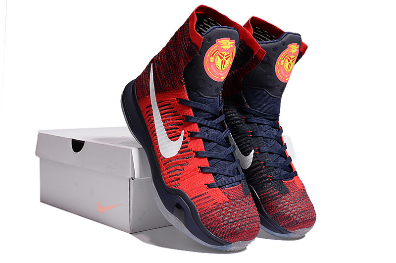 Nike Kobe Bryant 10 High America Red Dark Blue Shoes