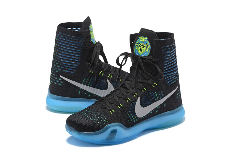 Nike Kobe Bryant 10 High Black Blue White Shoes