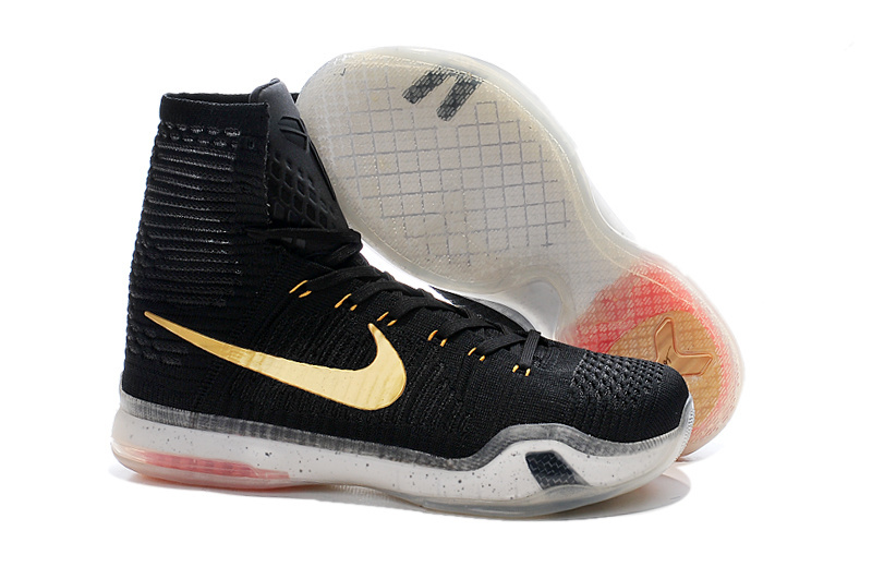 81d201d8b55 Nike Kobe Bryant 10 High Black Gold Shoes  NKOBE1201  -  110.00 ...
