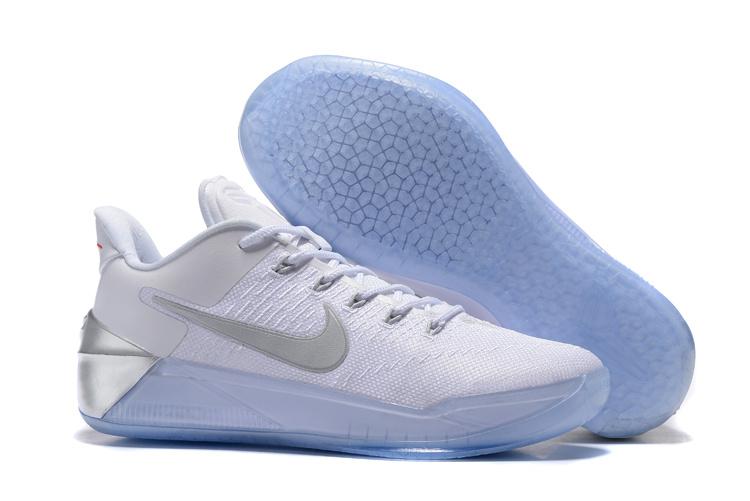 Nike Kobe Bryant 12 White Silver Shoes  NKOBE3825  -  83.00 ... 58b40f5ad6d5