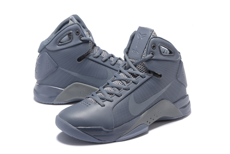 outlet store 7791b 7b044 Nike Kobe Bryant 4 Black Mamba All Grey Shoes