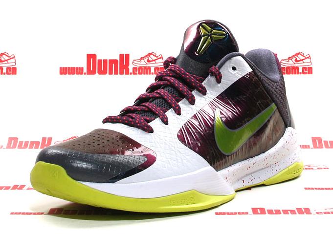 Nike Kobe Bryant 5 Wine Red White Black Green Shoes