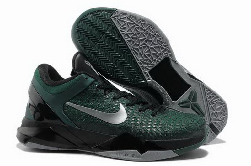 Nike Kobe Bryant 7 Elite Green Black Silver Shoes
