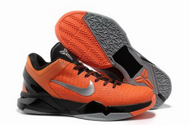 Nike Kobe Bryant 7 Elite Orange Black Silver Shoes