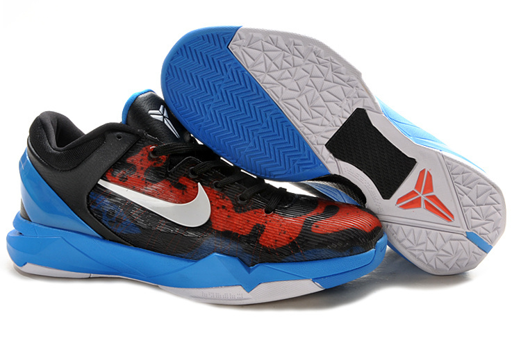 Nike Kobe Bryant 7 Frog Print Red Black Blue White Shoes
