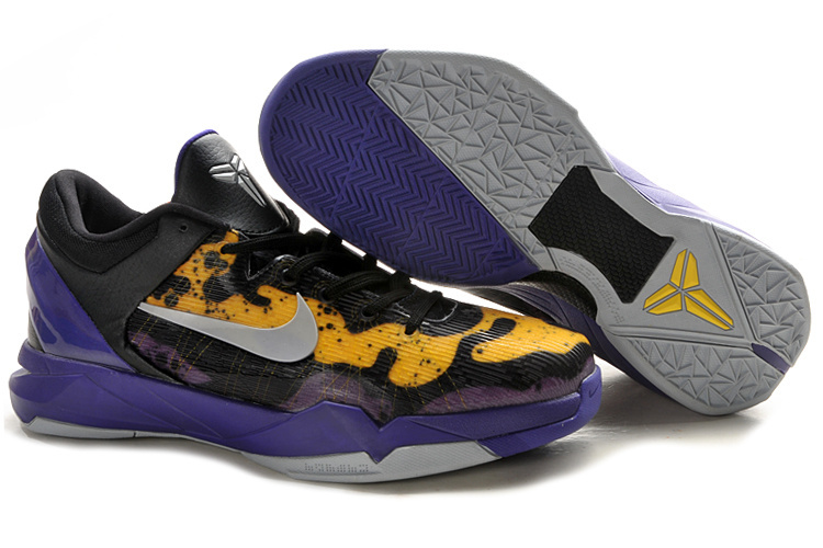 Nike Kobe Bryant 7 Frog Print Yellow Black Purple Shoes
