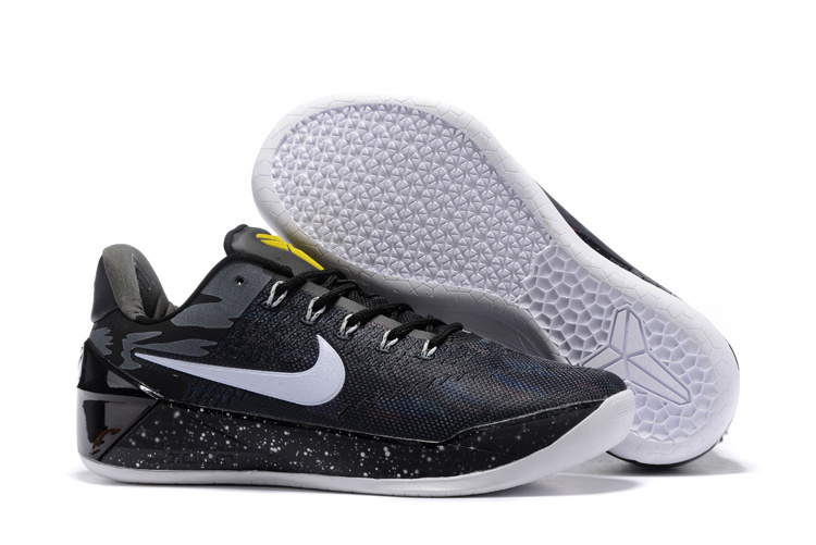 Nike Kobe Bryant A.D Black White Yellow Basketball Shoes