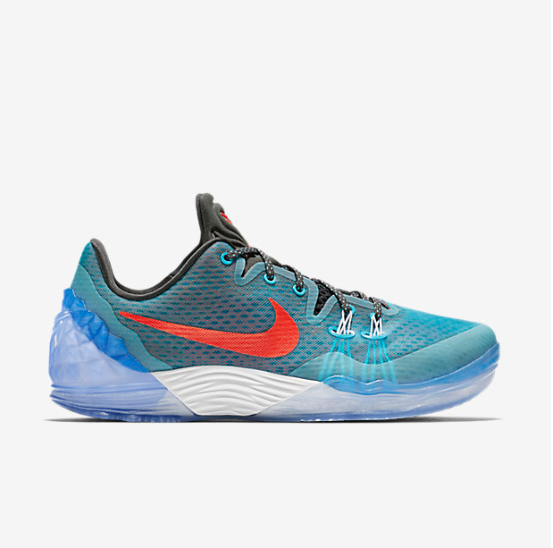 Nike Kobe Bryant Venomenon 5 Grey Blue Red Shoes