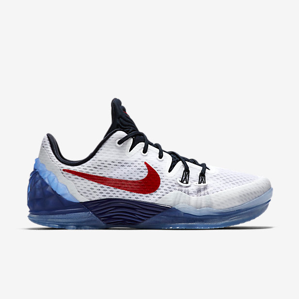 Nike Kobe Bryant Venomenon 5 USA White Red Blue Shoes