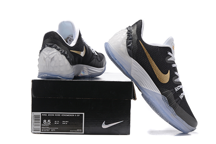 Nike Kobe Bryant Venomenon V Black Gold White Shoes
