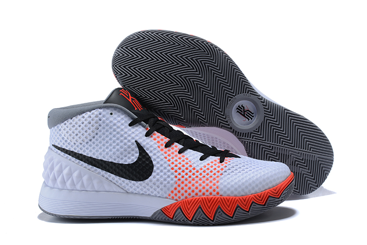Nike Kyrie 1 White Grey Red Black Shoes