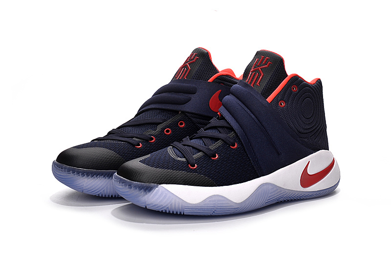 the latest 54f43 4287d authentic nike kyrie 2 dark blue red 7f637 5926d