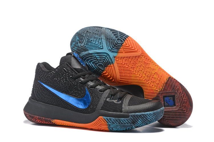 Nike Kyrie 3 Black Blue Orange Shoes