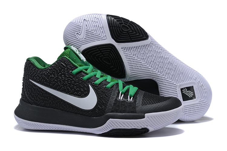 Nike Kyrie 3 Black White Green Shoes