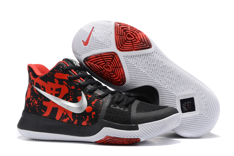Nike Kyrie 3 Christmas Black Red White Shoes