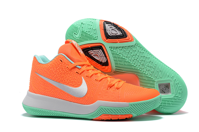 Nike Kyrie 3 Orange Silver Green Shoes