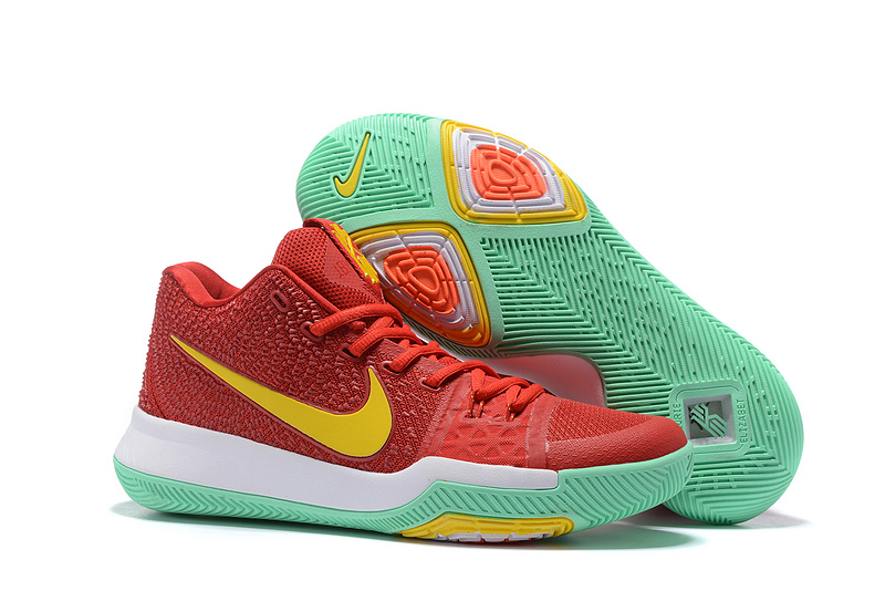 Nike Kyrie 3 Red Green Yellow Basketball Shoes