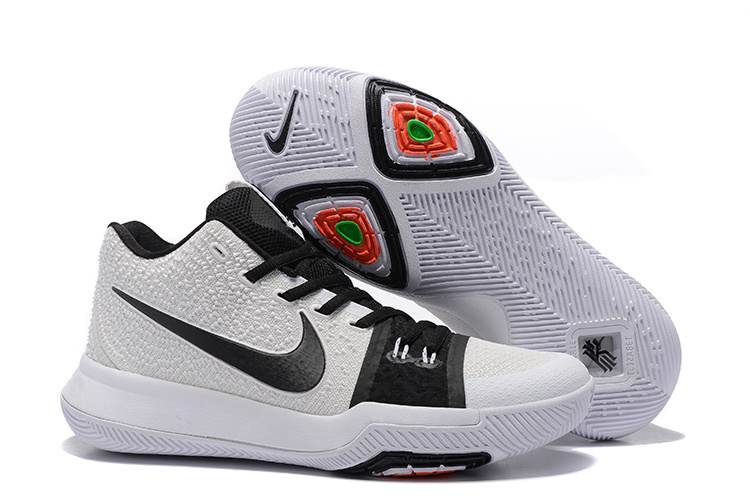 Nike Kyrie 3 White Black Colorful Shoes