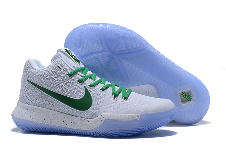 Nike Kyrie 3 White Green Shoes