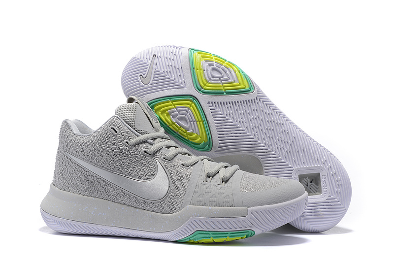 Nike Kyrie 3 Wolf Grey Green Basketball Shoes