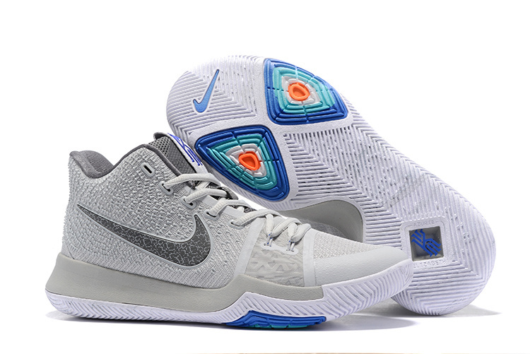 Nike Kyrie 3 Wolf Grey White Blue Shoes