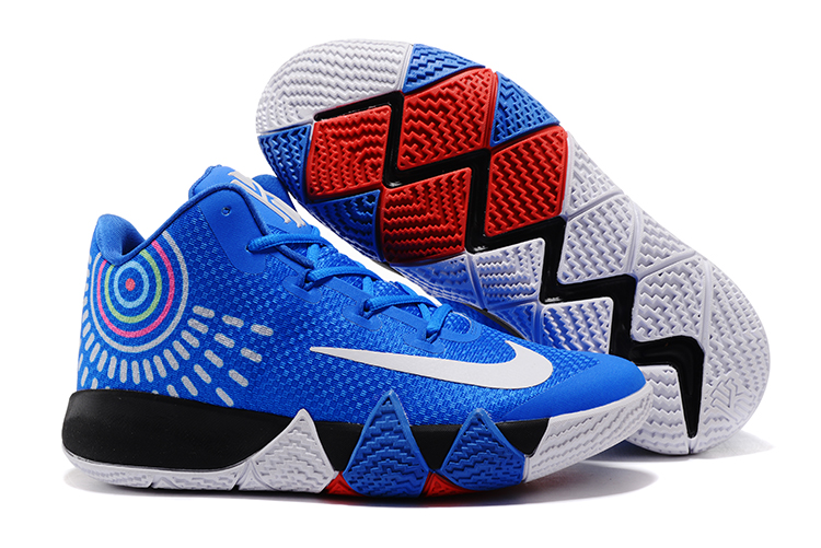 Nike Kyrie 4 Blue White Red Shoes